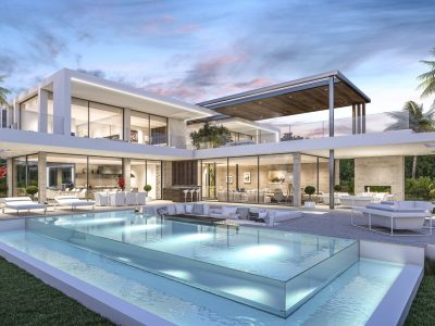 Villa de lujo frente, New Golden Mile, Marbella