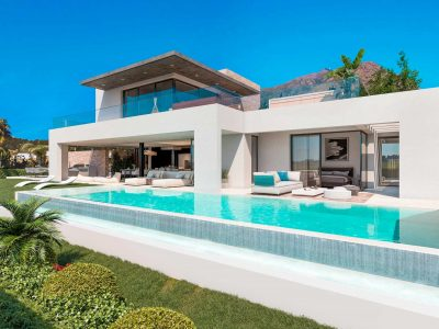 Contemporary Luxury Villa in a Golf Valley, New Golden Mile, Marbella