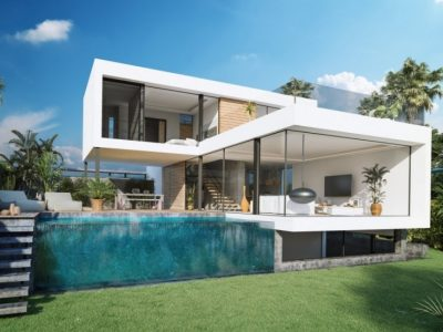 Moderne First Line Golf Villa in Estepona, Marbella