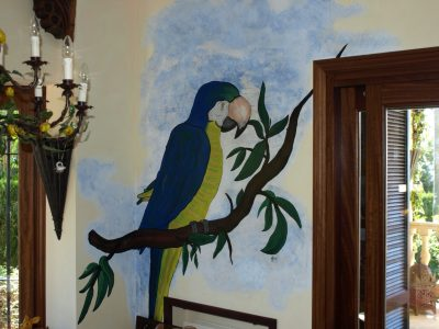 famous-parrot-painting-kitchen-wall