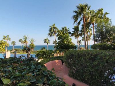 Beachfront double ground floor apartment, Estepona, Marbella